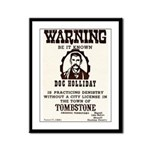 Doc Holliday Framed Panel Print
