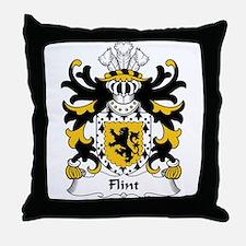 Flint Family Crest Throw Pillow