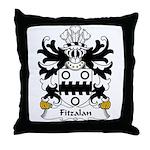 Fitzalan Family Crest Throw Pillow