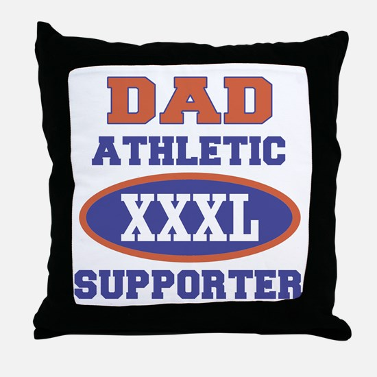 Dad Athletic Supporter Throw Pillow