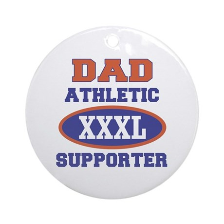Dad Athletic Supporter Ornament (Round)
