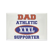 Dad Athletic Supporter Rectangle Magnet
