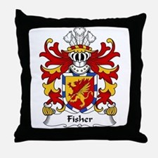 Fisher Family Crest Throw Pillow