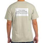 I Love Ninjas Ash Grey T-Shirt