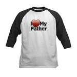 Love Father Kids Baseball Jersey