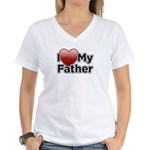 Love Father Women's V-Neck T-Shirt