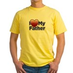 Love Father Yellow T-Shirt