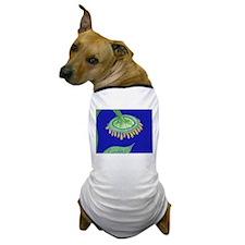 Bent Sunflower (blue) Dog T-Shirt