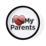 Love Parents Wall Clock