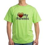 Love Parents Green T-Shirt