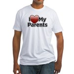 Love Parents Fitted T-Shirt