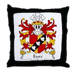Eure Family Crest Throw Pillow