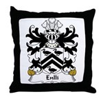 Enlli Family Crest Throw Pillow