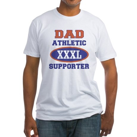 Dad Athletic Supporter Fitted T-Shirt