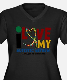 I Love My Autistic Nephew 2 Plus Size T-Shirt