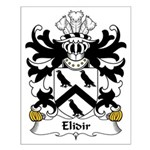 Elidir Family Crest Small Poster