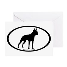 Boston Terrier Oval Greeting Card