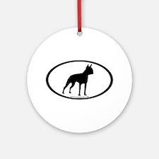Boston Terrier Oval Ornament (Round)