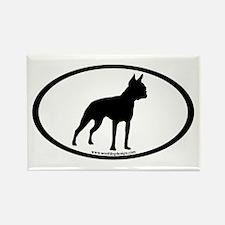 Boston Terrier Oval Rectangle Magnet