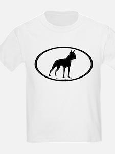 Boston Terrier Oval T-Shirt