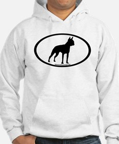 Boston Terrier Oval Hoodie