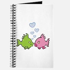 Kissy Love Fish Valentine Journal