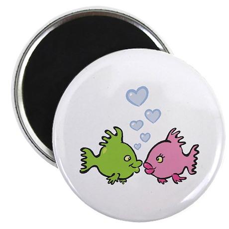 "Kissy Love Fish Valentine 2.25"" Magnet (100 pack)"