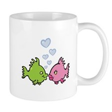 Kissy Love Fish Valentine Mug