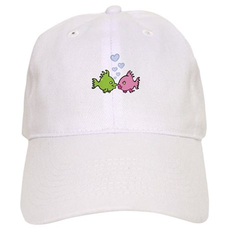 Kissy Love Fish Valentine Cap