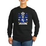 Dwnn Family Crest Long Sleeve Dark T-Shirt
