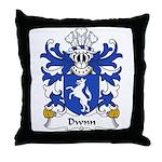 Dwnn Family Crest Throw Pillow