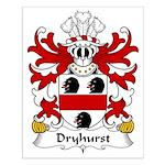 Dryhurst Family Crest Small Poster