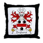 Dryhurst Family Crest Throw Pillow