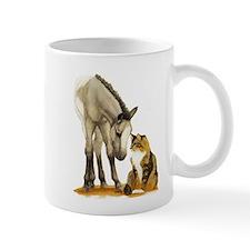 Mini Horses, and cat Mug
