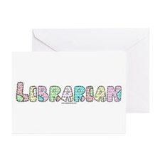 Librarian Patchwork Greeting Cards (Pk of 10)