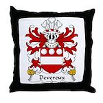 Devereux Family Crest Throw Pillow