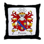 Dennis Family Crest Throw Pillow