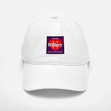 I Love Hillary Baseball Baseball Cap