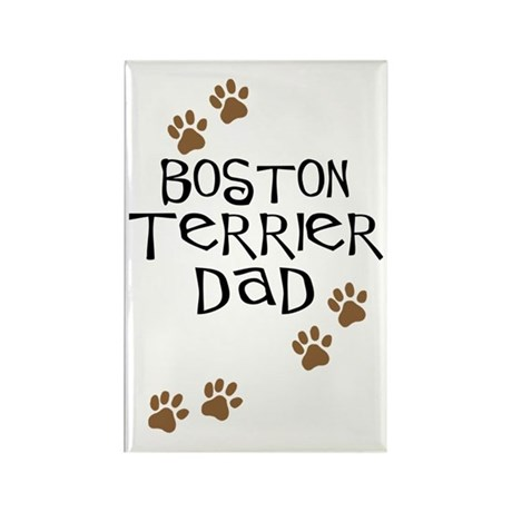Boston Terrier Dad Rectangle Magnet (10 pack)