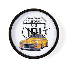 California Classic Car Wall Clock