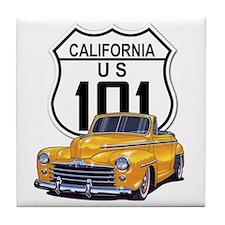 California Classic Car Tile Coaster