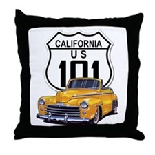 California Classic Car Throw Pillow