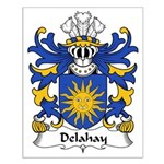 Delahay Family Crest Small Poster
