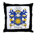 Delahay Family Crest Throw Pillow