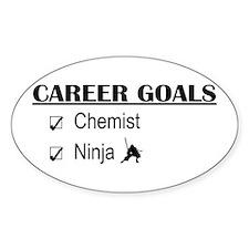 Chemist Career Goals Oval Decal