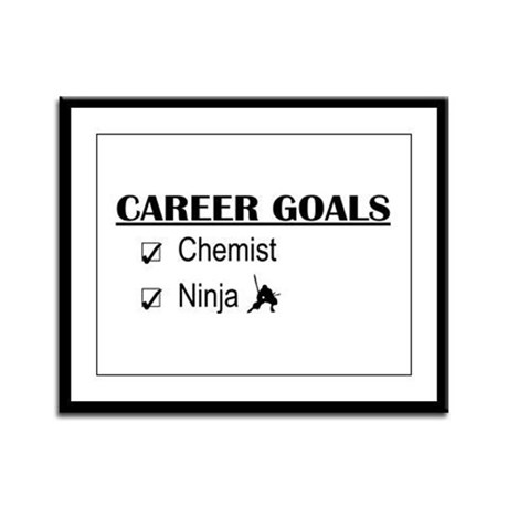 Chemist Career Goals Framed Panel Print