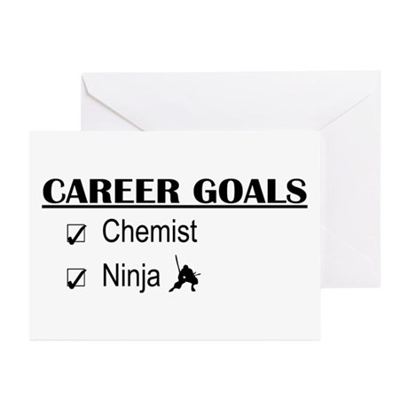 Chemist Career Goals Greeting Cards (Pk of 10)