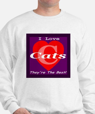 I Love Cats Sweatshirt