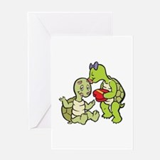 Cute Turtles in Love Valentine Greeting Card