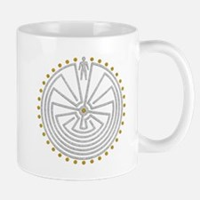 Man In The Maze Medallion Gold Silver Mugs